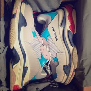 Balenciaga triple s blue and pink